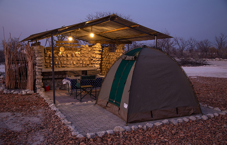Individual Campsites with private facilities