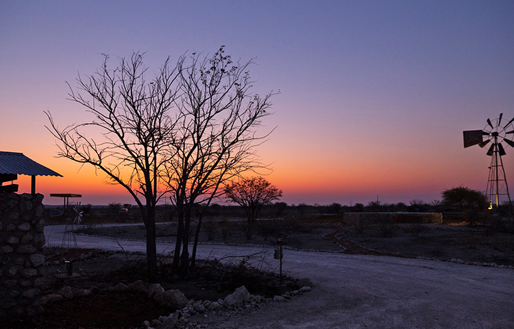 Beautiful sunsets at Etosha Trading Post