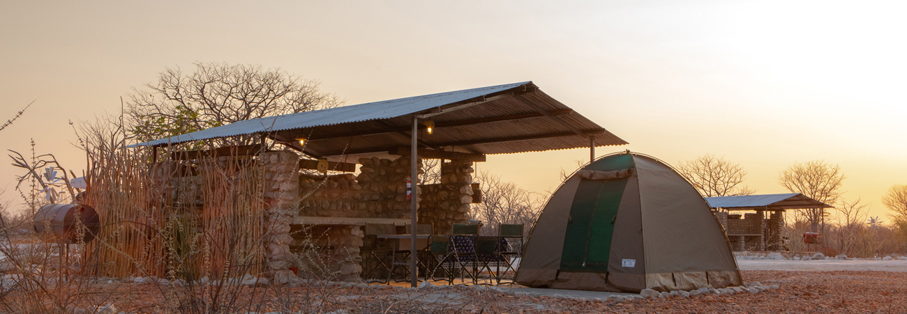 Private Campsites at Etosha Trading Post